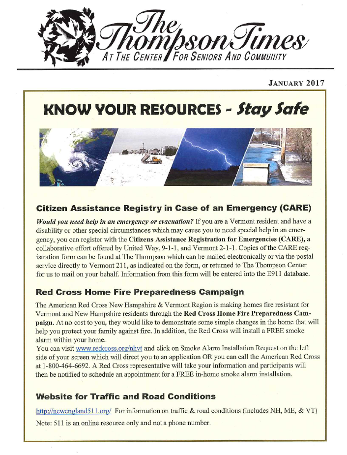 Know Your Resources - Stay Safe