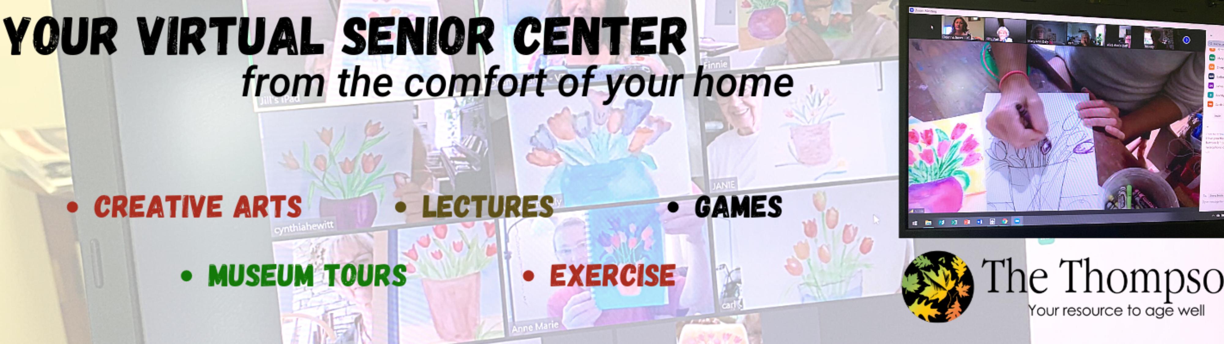 Your virtual senior center slider